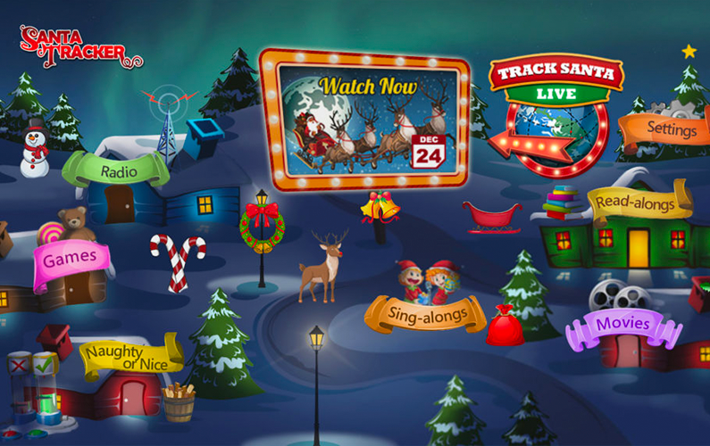 Santa Tracker returns for the 10th year delivering holiday cheer to pay tv providers
