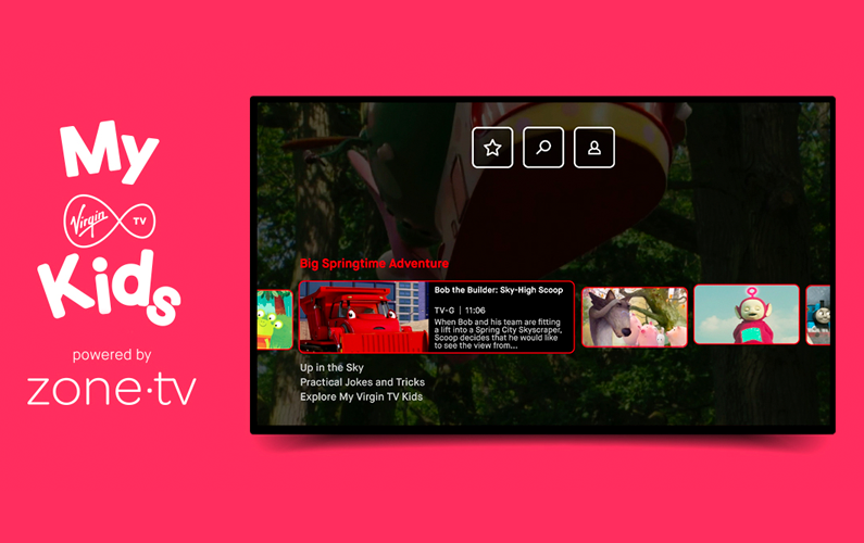 VirginTV Launches Personalized Channel for Kids with zone·tv™