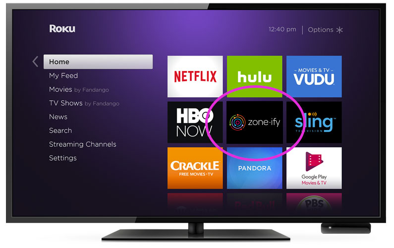 Zone·ify™ is now available on Roku!