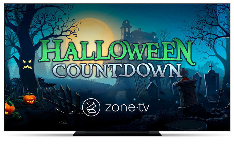Top Pay TV Providers Bring a Spooktacular Experience to Subscribers with Zone·tv's™ Halloween Countdown