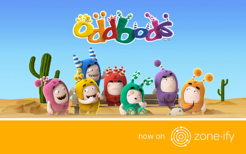 Zone·tv™ and One Animation Launch Globally Acclaimed Oddbods on Zone·ify's™ Playground Channel