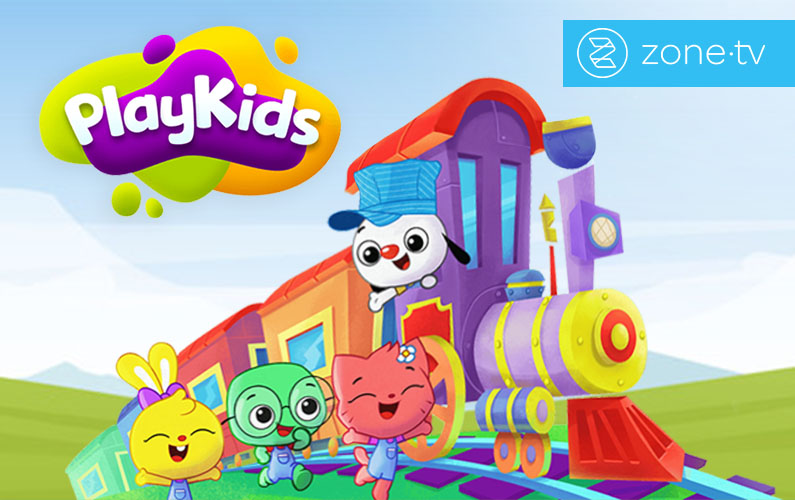 "Zone·tv™ joins SLING TV's free ""Stay in & SLING"" Initiative with PlayKids"